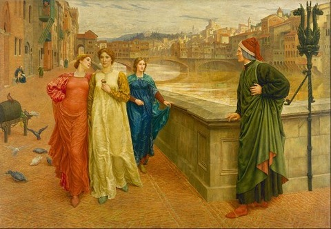 Henry Holiday - Dante and Beatrice  1882-84