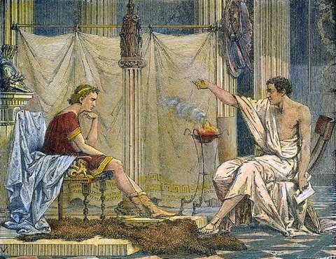 Aristotle teaching Alexander the Great  1866