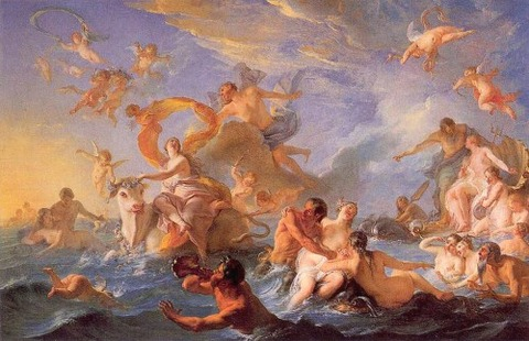 Nöel-Nicolas Coypel Enlvement d'Europe 1727