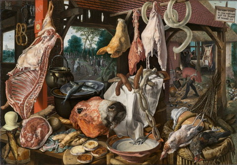 A Meat Stall- Pieter Aertsen 1551