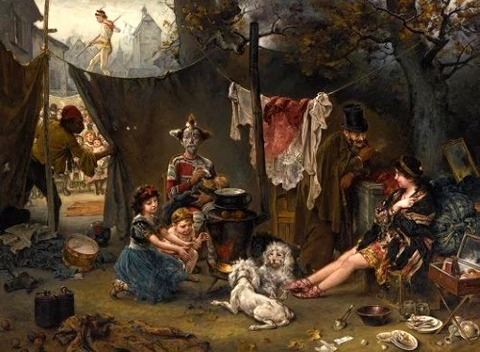 Ludwig Knaus - Behind the Scenes 1880