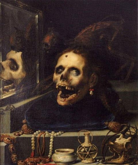 Momento Mori Natura Morta Macabra 1604  Jacopo Ligozzi