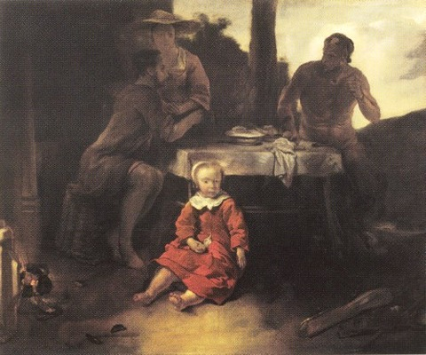 The Satyr and the Peasant Family Jan van Noordt