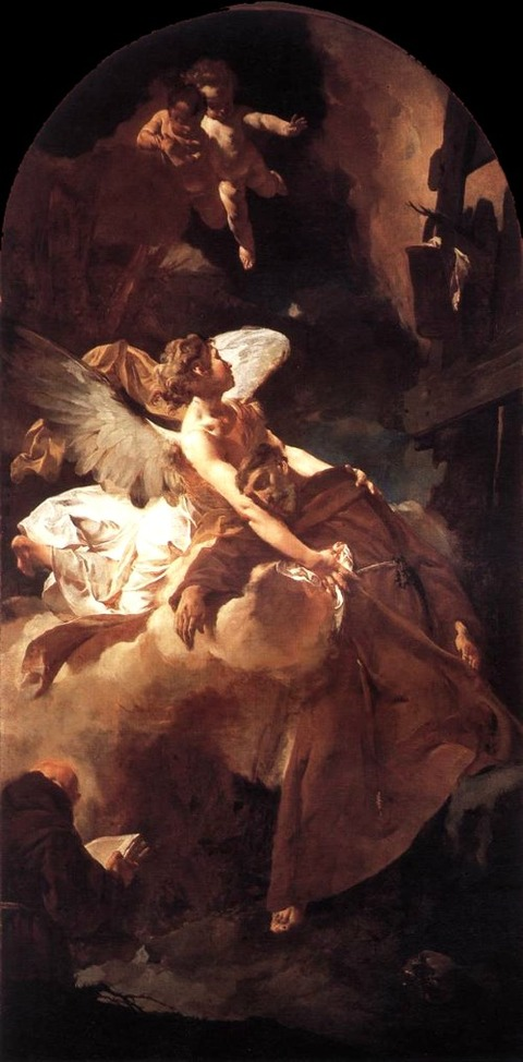 Giovanni Battista Piazzetta The Ecstasy Of St Francis 1729