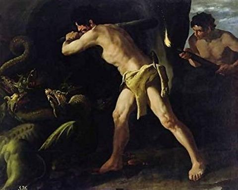 Francisco De Zurbaran Hercules Fighting Lernaean Hydra 1634