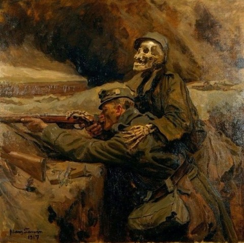 Soldier and death, 1917 Hans Larwin