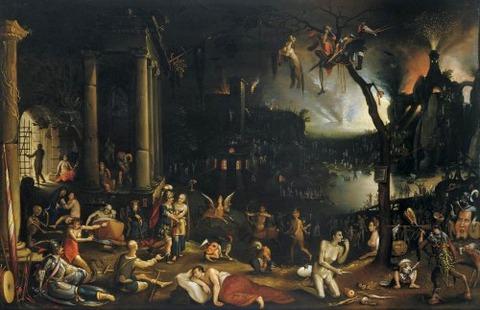 Flemish School  Aeneas Sibyl Underworld, early 17th