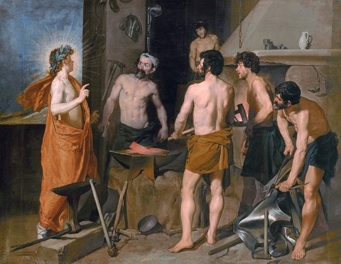 La Fragua de Vulcano (Apollo in the Forge of Vulcan)1630