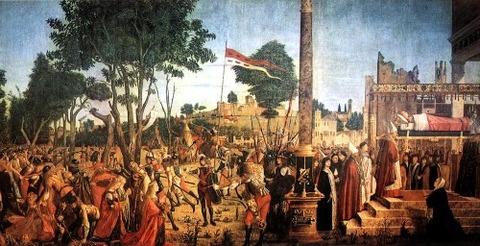 Martyrdom Pilgrims Funeral of St Ursula Vittore Carpaccio 1493
