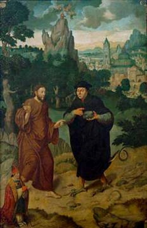 Bartholomäus the Elder   workshop The Temptations of Christ 1547