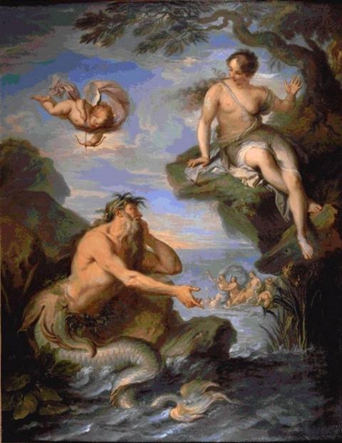 Glaucus et Scylla Jacques Dumont   1720~80