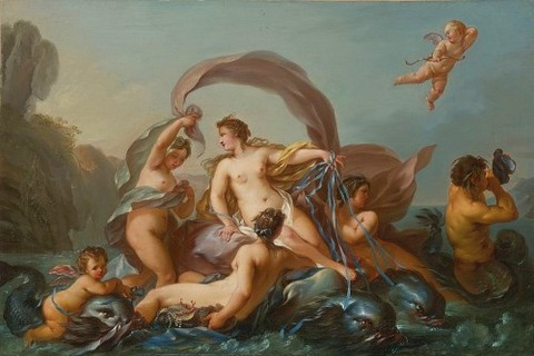 Jean-Baptiste Marie Pierre (attr) The Birth of Venus 18th