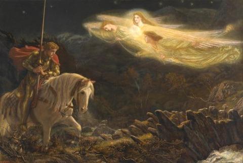 Galahad The Quest of the Holy Grail Arthur Hughes 1870