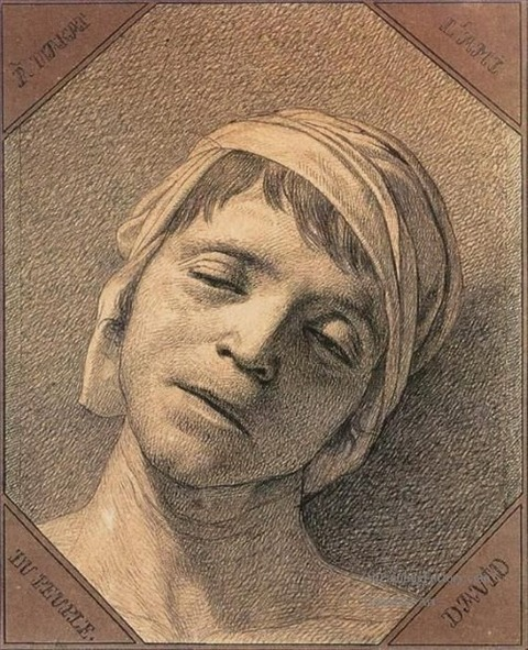 Head of the Dead Marat by Jacques Louis David