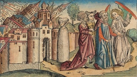 Destruction of Sodom, Nuremberg Chronicle