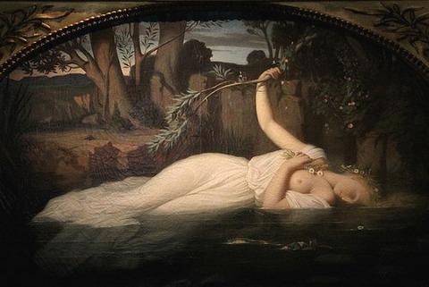 Ofelia di Leopold Burthe, 1851