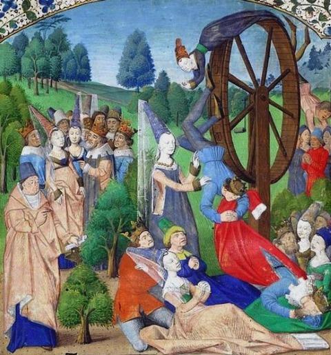 Lady Fortune in a Boccaccio manuscript french 1467