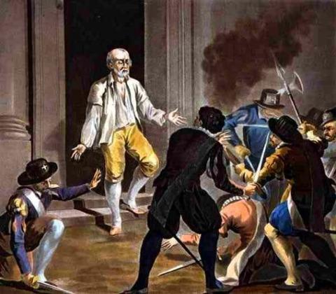 Death Gaspard de Coligny  Jean Baptiste Morret 1788