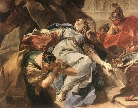 The Death of Sophonisba  Giambattista Pittoni 1730