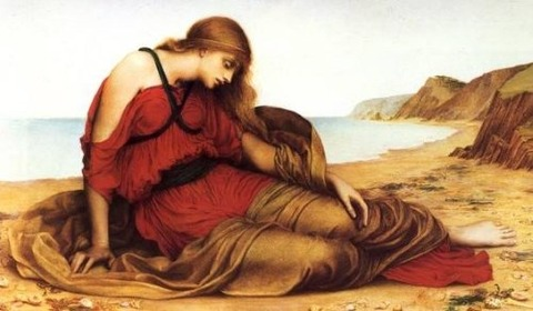 Evelyn de Morgan - Ariadne in Naxos, 1877