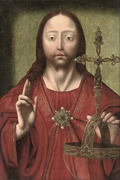 joos-van-cleve-christ-as-salvator-mundi