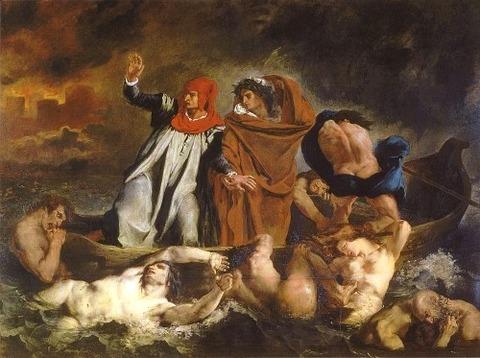 Delacroix barque of dante 1822