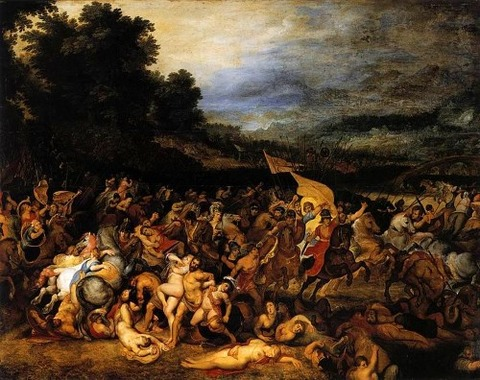 Battle of the Amazons by Rubens and Jan Brueghel