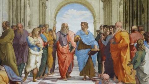Raphael, Plato and Aristotle, fresco, 1509-1511