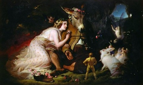 Scene From A Midsummer Night's Dream  by Sir Edwin Landseer