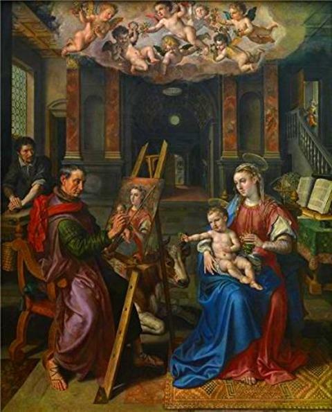 Maerten De Vos  Saint Luke Painting The Madonna 1602