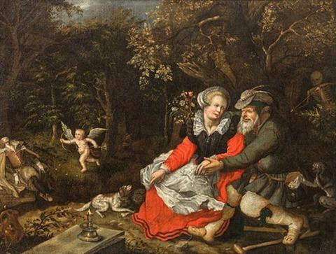 David Vinckboons  winged Cupid Allegory of love, 1620