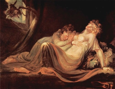 The Incubus Leaving Two Sleeping Women Artwork by Henry Fuseli