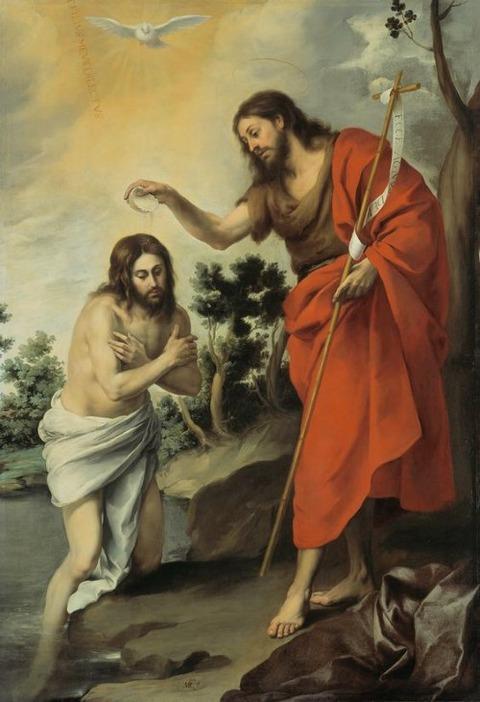 Battesimo di Cristo  1655  Bartolomé Esteban Murillo