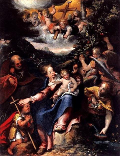 Denys Calvaert Infant St John the Baptist in Landscape  1590