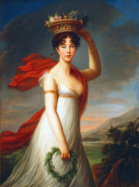 Elisabeth Vigée-lebrun Julie as Flora 1799