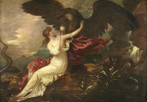 Benjamin West - Eagle Bringing Cup To Psyche