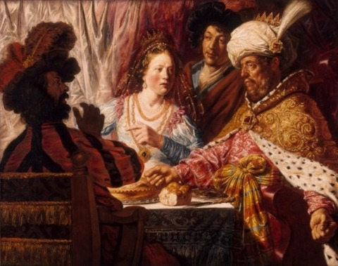 The Feast of Esther', Jan Lievens, 1625
