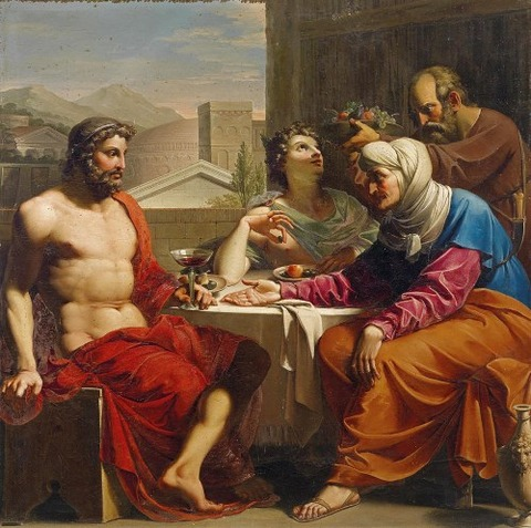 Philemon And Baucis by Circle of Andrea Appiani