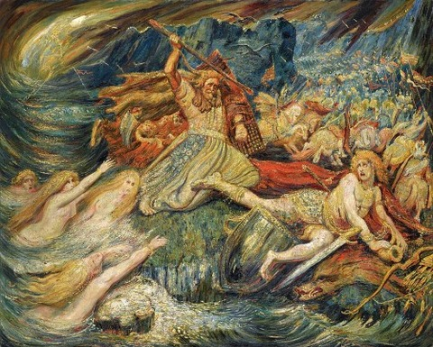 The Death Of Siegfried Painting by Henri Degroux