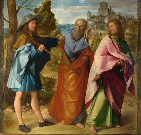 Altobello Melone – The Road to Emmaus, c. 1516-17