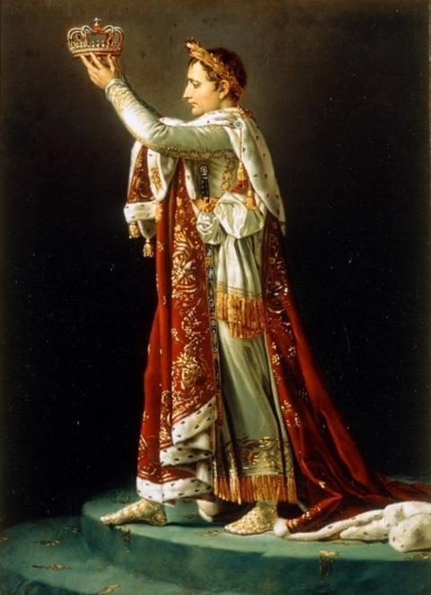戴冠式の皇帝ナポレオン
