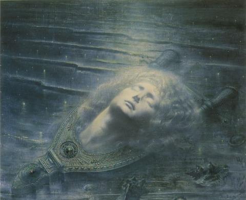 Jean DELVILLE Death of Orpheus 1893
