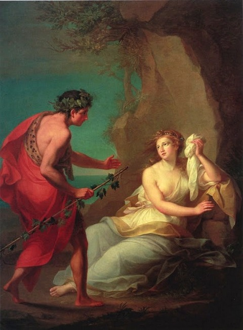 Angelica Kauffman BACCHUS DISCOVERS ARIADNE ABANDONED  1764