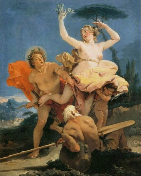 ティエポロ 「 アポロとダフネ 」 1743-44