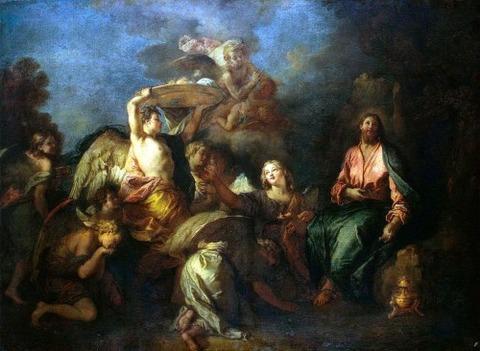 Charles de La Fosse, Christ Ministered Angels 1685-95
