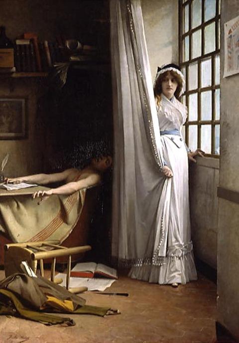 Jules Aviat    Charlotte Corday et Marat  1880