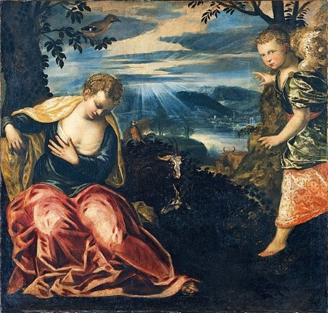 Jacopo Tintoretto Annunciation to Manoah's Wife 1518-94