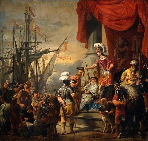 Aeneas at the court of Latinus Ferdinand Bol 1661-63
