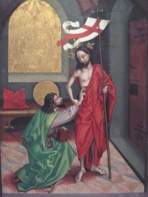 Martin Schongauer and workshop - Doubting Thomas