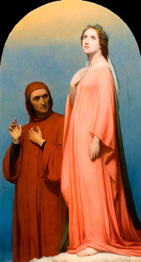 Ary Scheffer, The Vision Dante and Beatrice, 1846